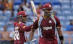 Denesh Ramdin celebrates his half-century