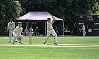 Pat Yates hits out during his innings of 60