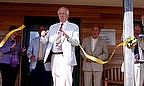 Sir Tim Rice opens the new pavilion at Grampound Road Cricket Club