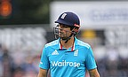Alastair Cook walks off after being dismissed