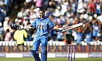 Shikhar Dhawan gestures at Edgbaston