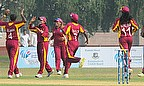 Shakera Selman celebrates a wicket
