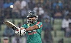 Mashrafe Mortaza batting during the ICC Wt20
