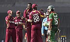 Sulieman Benn celebrates a wicket