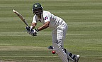 Younus Khan flicks to leg