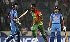 Al-Amin Hossain celebrates a wicket