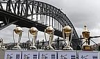 Australia's World Cup trophies on display