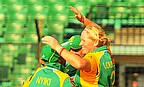 Sunette Loubser and South Africa celebrate