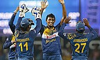 Suranga Lakmal picked up two wickets for Sri Lanka