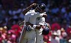 Virat Kohli and KL Rahul embrace