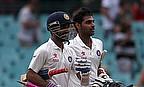 Ajinkya Rahane and Bhuvneshwar Kumar walk off after securing a draw for India