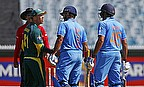 David Warner confronts Rohit Sharma