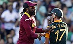 Chris Gayle and AB de Villiers