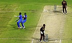 MS Dhoni and Ravichandran Ashwin collide