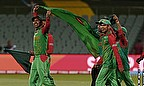 Bangladesh celebrate their World Cup victory over England