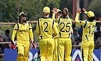 Australia Women celebrate a wicket