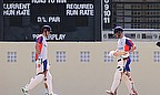 Alastair Cook and Jonathan Trott in training