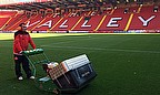 Charlton Athletic FC head groundsman with the Dennis G860