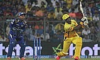 Dwayne Smith (right) scored a demolishing 30-ball 62 as Chennai Super Kings defeated Mumbai Indians by six wickets at Wankhede stadium.