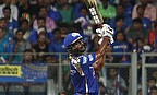 Ambati Rayudu scored an unbeaten 27-ball 53 as Mumbai Indians defeated Rajasthan Royals by eight runs at Wankhede stadium.