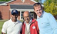 Shivnarine Chanderpaul, Lloyd Jodah and Shaun Pollock