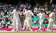 England's day began badly when captain Alastair Cook fell for just seven