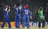 Afghanistan celebrate against Bangladesh