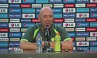 Darren Lehmann speaks to the media