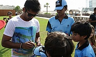 Kolkata Knight Riders sign autographs for young cricketers in Dubai