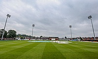 The gloomy scene at Northampton where no play was possible on day three