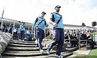 Scotland players walk out