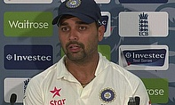 Murali Vijay talks to the press following his century at Trent Bridge