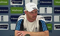 Ian Bell talks to the media at the Ageas Bowl