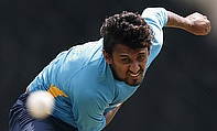 Suranga Lakmal bowls in training