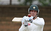 Brendan Taylor plays a short ball