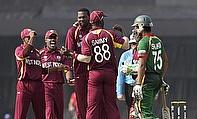 Sulieman Benn (centre) has been recalled to the West Indies' Twenty20 International squad