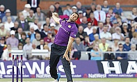 Tim Bresnan bowls for Yorkshire