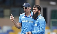 Alastair Cook and Moeen Ali during England's 55-run win over Sri Lanka A