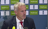 Peter Moores addresses the media before England head out to the World Cup