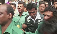 Rubel Hossain (dark green top) has been jailed in Dhaka