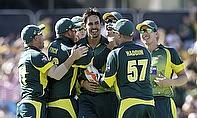 Australia celebrate against England