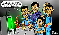 Cartoon: MS Dhoni Stumped By Indian Bowlers