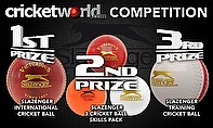 Win Slazenger cricket balls with Cricket World