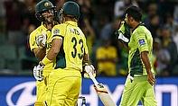 Australia celebrate beating Pakistan