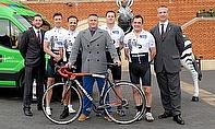 L-R: Perry Norton, Simon Tabb, Matthew Etherington, Darren Gough, James Bedingfield, Henry Shires and Duncan Lewis
