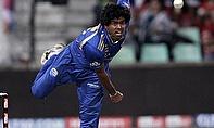 Lasith Malinga bowling for Mumbai Indians
