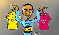 Cartoon: Dwayne Bravo's Dilemma