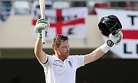 Ian Bell continued his sublime form as he notched up a fluent 143 to take England to 341 for five on day one of the Antigua Test.
