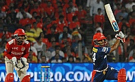 Mayank Agarwal (right) scored a sublime 48-ball 68 as Delhi Daredevils defeated Kings XI Punjab by five wickets at Pune.