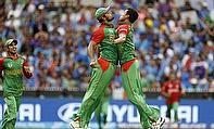 Bangladesh celebrate a wicket